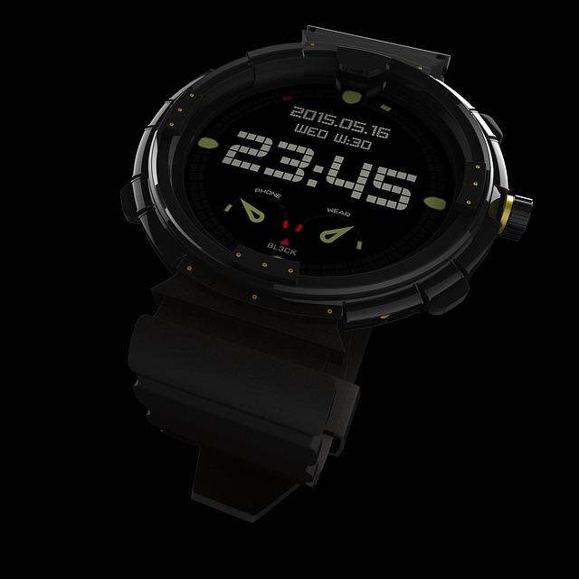 moderní digitální hodinky