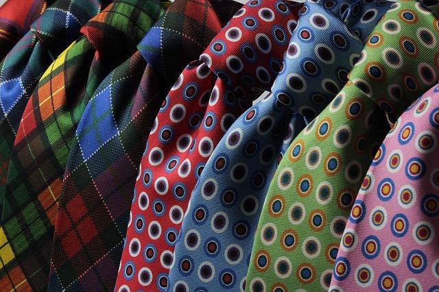 vzorované kravaty