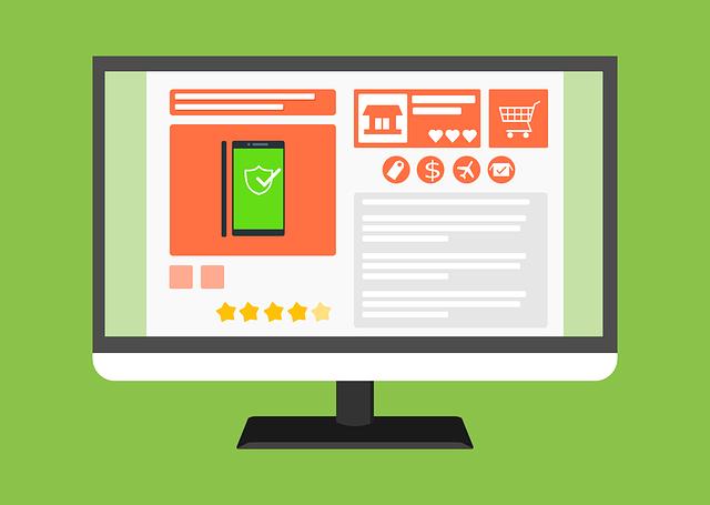 Online nákupy, nakupování, online.